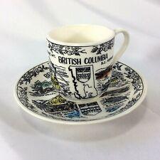 Dawson Creek British Columbia Mile 0 Alaska Highway Souvenir Tea Cup Saucer VTG