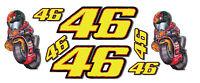 Aprilia 250 GP, 46, Moto GP MOTORRAD laminiert Aufkleber