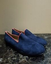 NWOB Res Ipsa Men's Slip on Loafers Driver Shoes Blue Suede Size 9 RT $330
