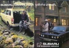 Subaru 1600 Saloon Estate Coupe & GFT 1978 Original UK Sales Brochure No. CWA2
