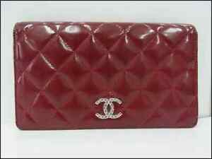 Auth AJ09 Chanel Brilliant Bi-Fold Wallet with Serial Seal from Japan