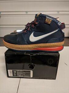 Nike Zoom LeBron 6 VI Midnight Navy DS NIB U.S. Size 12 Chalk Fund Arena Cavs