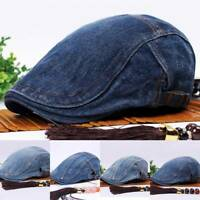 Men's Solid Cotton Gatsby Cap Golf Cabbie Beret Newsboy Ivy Hat Driving Sun Flat