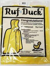 Ruf Duck Raingear Yellow Waterproof Rain Jacket Made in USA Size Large