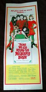 Here We Go Round The Mulberry Bush 1968 Vintage Insert Poster Judy Geeson