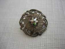 "Vintage Small 11/16"" Metal Button with Star Cut Steel Center - M95"