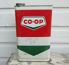 VINTAGE CANADA CO OP  MINERAL GEAR OIL SAE 80 1 IMPERIAL GALLON TIN CAN EMPTY
