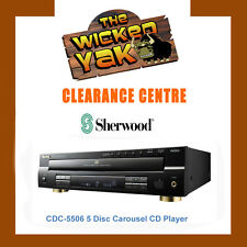 SHERWOOD Front Load 5 Disc Carousel CD Player+USB+MP3 Play CDC5506 BRAND NEW