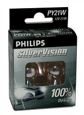 2 AMPOULES PHILIPS SILVER VISION 12V PY21W BAU15S RENAULT 19 I (B/C53_)
