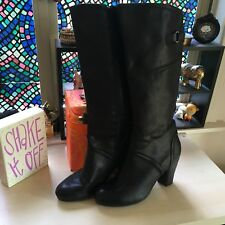 BareTraps Black Boots GALLANT 9M Zipper and a little Stretch Barely Worn Great
