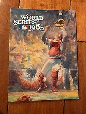 1985 WORLD SERIES ST. LOUIS CARDS GAME PROGRAM PERSONAL COPY JOHNNY MIZE ESTATE