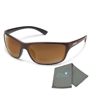 Suncloud Sentry Medium Fit Sunglasses Brown Frame Polar Brown Lens with Cloth