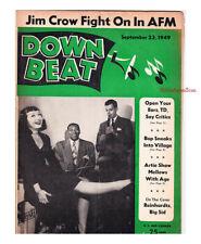 Down Beat 1949 Jim Crow Artie Shaw Bop Paul Mares Knocky Parker Tommy Dorsey