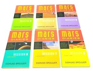 Mars Diaries Books Sigmund Brouwer Homeschool Sci-fi Space Youth Lot Of 6
