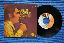 CHARLES AZNAVOUR / EP BARCLAY 71418 / VERSO 2  LABEL 3 / BIEM 1970 ( F )