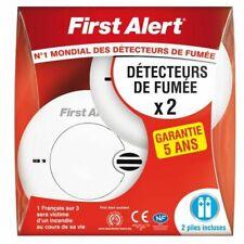 First Alert 2 Détecteur Avertisseur Autonome de fumée garantie 5 ans avec piles