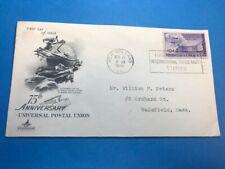 #C42 10c Artcraft FDC 1949 Universal Postal Union