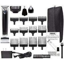 NEW Wahl Lithium Ion Slate Stainless Steel Trimmer Men Shaver Hair Clipper USA