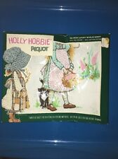 Vintage Holly Hobbie Pequot No-Iron Luxury Muslin Twin Fitted Sheet Blue Girl