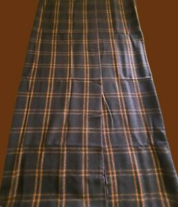"""Woolrich 1960's Throw Blanket 59""""x66"""" Wool Blend Brown Plaid Made in USA w/ case"""