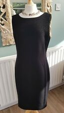 Laura Ashley Black Dress new cost £80 size 16 fitted stretchy work office smart