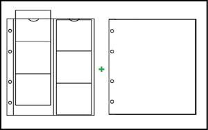 10 LINDNER K1W Karat Münzhüllen Ergänzungblätter 6x 75x65mm + weiße ZWL