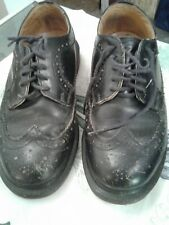 Doc Martens Women's 5-1/2 Black leather Wingtip Oxford Shoes