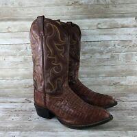 Tony Lama Royal Hornback Mens Size 11 EE Crocodile Caiman Leather Cowboy Boots