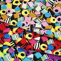 Liquorice Allsorts Sweets 100% Cotton Fabric Sold Per Metre Fat Quarters Free PP