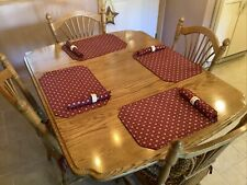 New ListingLongaberger Traditional Red Placemats, Napkins & Napkin Rings Set Of 4