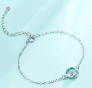 Personality Tail Mermaid Fish Whale Bracelet Glass Ball Silver Women Jewelry