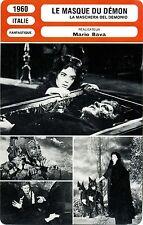 Movie Card. Fiche Cinéma. Le masque du démon/La maschera sel demonio(Italie)1960