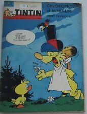 JOURNAL TINTIN N°730 CHLOROPHYLLE et MINIMUM/DAN COOPER/VAILLANT 1962 BON ETAT