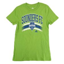 "Seattle Sounders FC Adidas MLS Girls Green ""Middle Logo Stripe"" T-Shirt"