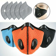 Unisex Anti Dust Reusable Cycling Face Mask Washable Mouth Cover With Filters