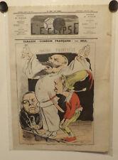 Caricature,Journal l'éclipse,Tabarin, Gill, 5 juillet 1874