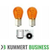 2x Blinkerbirne Birne Blinker Orange 12V 21W BA15S Glühbirne Leuchtmittel Orange