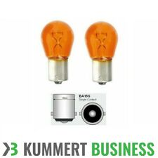 2x Blinkerbirne Birne Blinker Orange 12V 21W BA15S Glühbirne Leuchtmittel Orange
