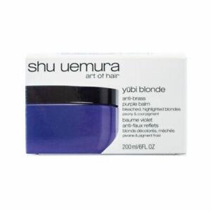Shu Uemura Yubi Blonde Anti Brass Purple Balm Hair Mask 6 oz New/Boxed