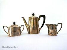 Antique Towle Sterling Silver Coffee Service / Set - Teapot - Sugar - Creamer