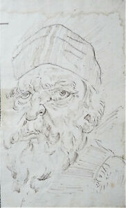 PORTRAIT OF AN OLD MAN, OLD MASTER DRAWING, PROBABLY 17TH CENTURY