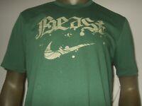 New Men's Green Large Nike Beast Swoosh Dri-Fit Athletic Cut Sport Tee Shirt