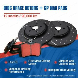 Front Slotted Brake Rotors Pads for Volvo 940 960 Some Models 1995-1997