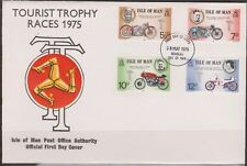 Isle of Man 1975 May 28th Manx International TT Races SG 63-66 FDC MOTORBIKES
