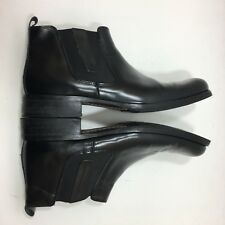 Kenneth Cole Boots Shoes 9D Mens Chelsea Ankle Black Flat Toe Stretch Sides