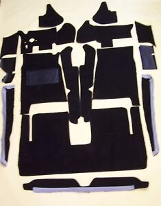STUDEBAKER AVANTI  1963-1985 BLACK LOOP 18 PC. CARPET KIT with 20 oz. padding