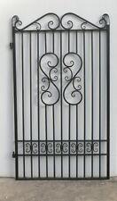PEDESTRIAN GATE WROUGHT IRON Black 1910 h x 1175 mm w