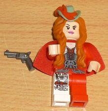 Lego The Lone Ranger Figur Lady Red Harrington mit Pistole + 2 Gesichter