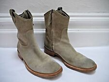 BRUNELLO CUCINELLI beige suede and canvas ankle boots Italian size 38