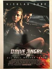 DRIVE ANGRY 11.5x17 PROMO MOVIE POSTER